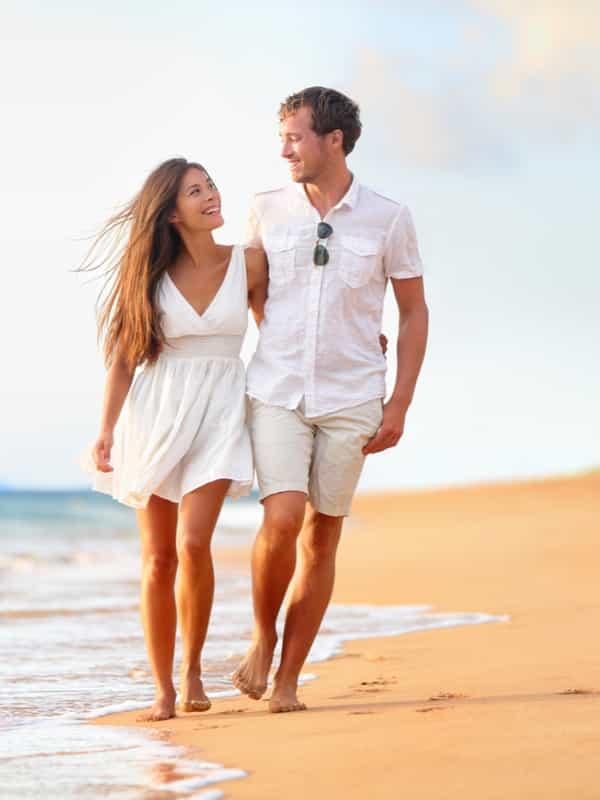 couple on the beach near punta gorda